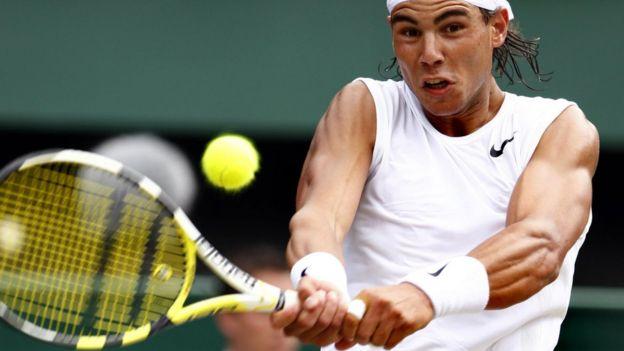 El tenista Rafal Nadal