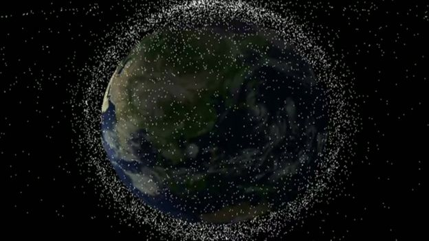 Artist impression of space junk