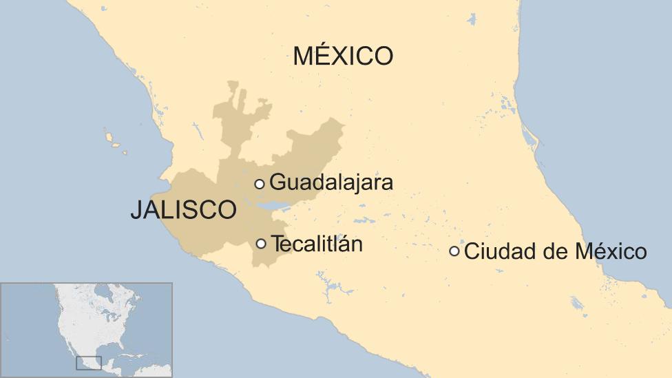 Un mapa de Jalisco