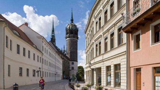 Una calle de Wittenberg