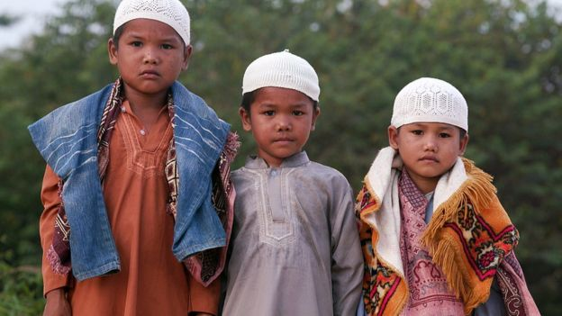 Orang Rimba boys who have converted to Islam