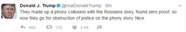 Donald Trump tweet: