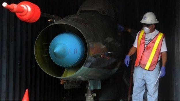 Máy bay chiến đấu MIG-21 được tìm thấy trên tàu Chong Chan Gang
