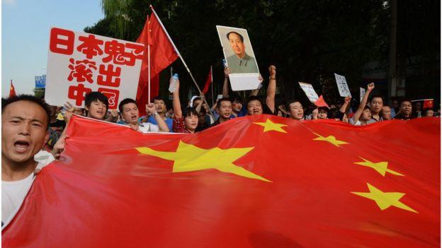2012年中國反日示威。
