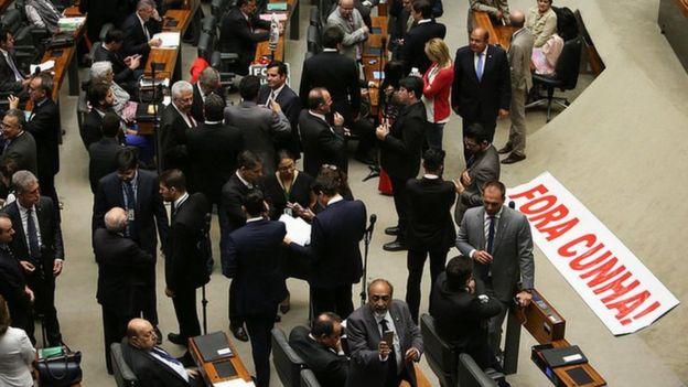 Sessão de cassação do mandato de Eduardo Cunha, em 2016