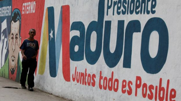 Mural de Maduro.
