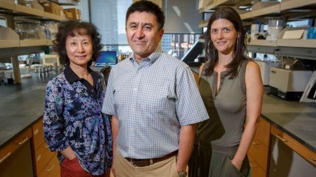 Tres de los investigadores