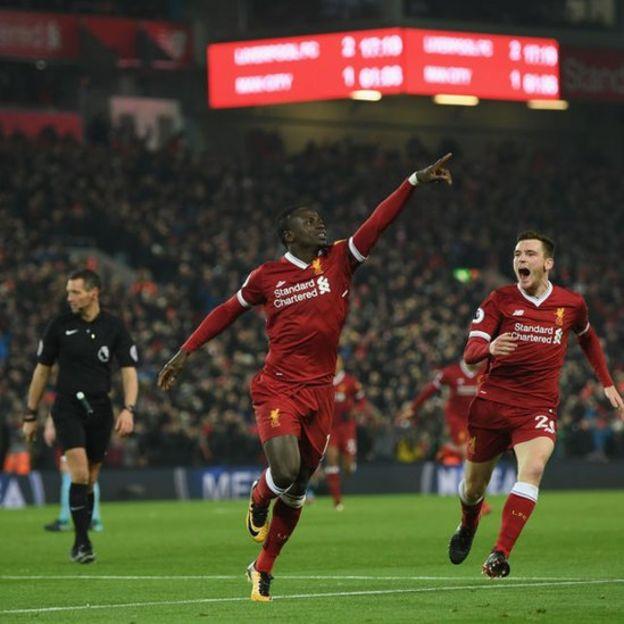 Sadio Mané anotó uno de los goles contra City.