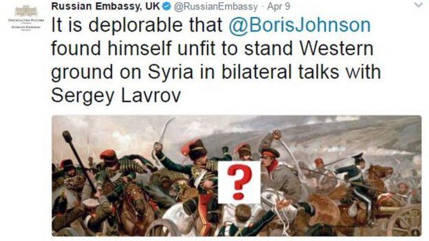 Russian Embassy in the UK's tweet regarding Boris Johnson's cancelled Moscow visit