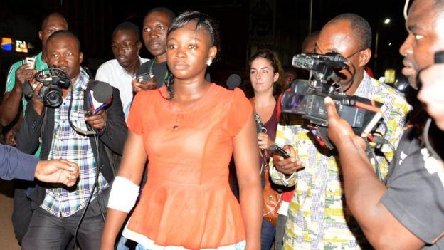 L'une des blessées lors de l'attaque de Ouagadougou.