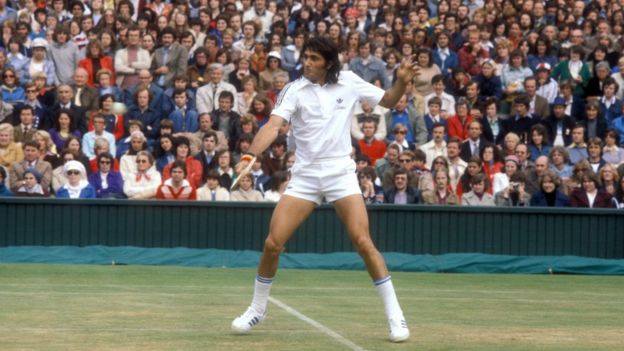Nastase en Wimbledon de joven.