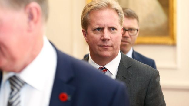 Todd McClay during a ceremony at Government House on December 20, 2016 in Wellington