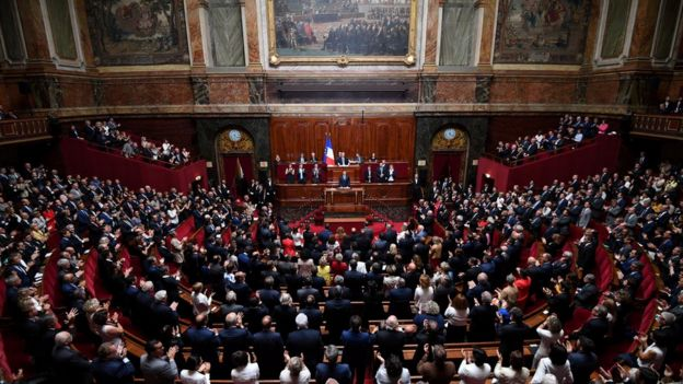 نشست مشترک مجلس ملی و مجلس سنای فرانسه