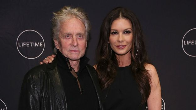 Michael Douglas and wife Catherine Zeta-Jones in November 2017
