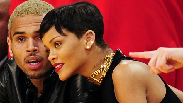 Chris Brown and Rihanna in 2012