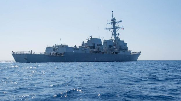 杜威號導彈驅逐艦在南海(6/5/2017)