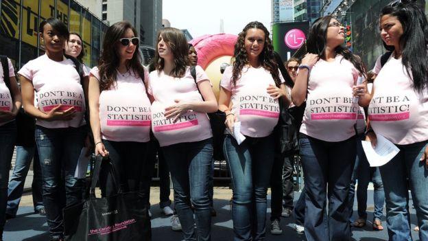Campaña contra el embarazo adolescente.