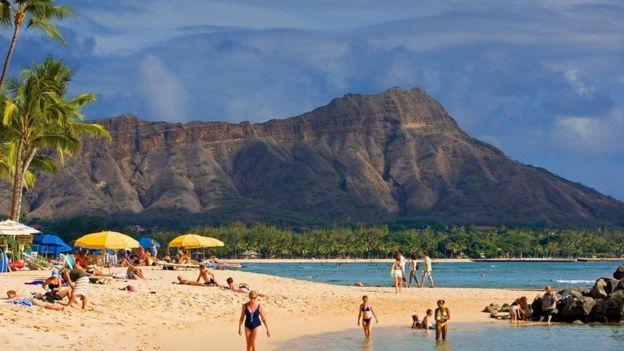 Una playa en Hawái
