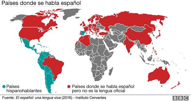 Países hispanohablantes.