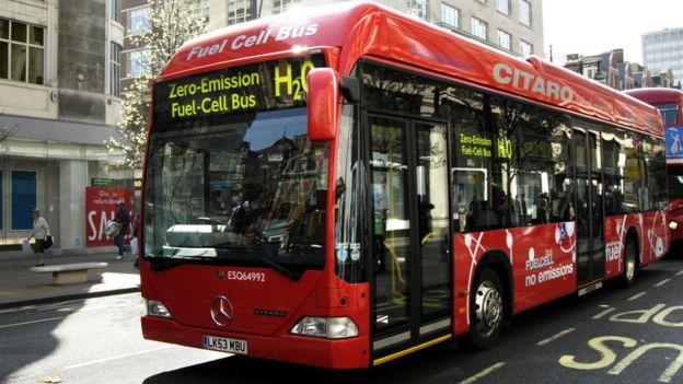 Zero-emission hydrogen fuel cell bus