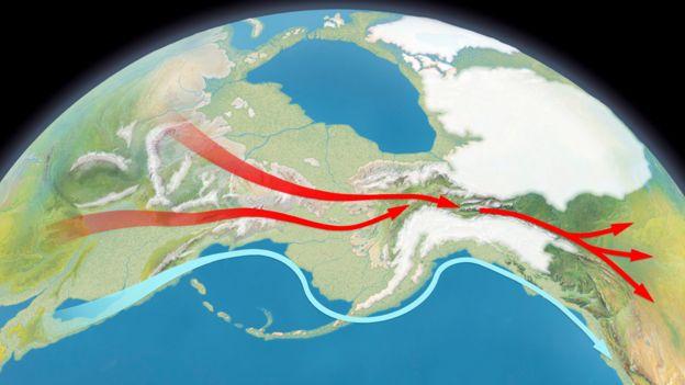 Ilustración sobre cómo habría sido Beringia.