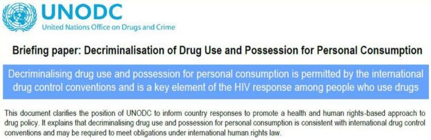 The UNODC briefing paper