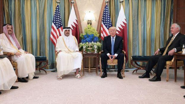 El presidente Trump realizó una visita oficial a Qatar, en compañía de Tillerson, el pasado 21 de mayo.