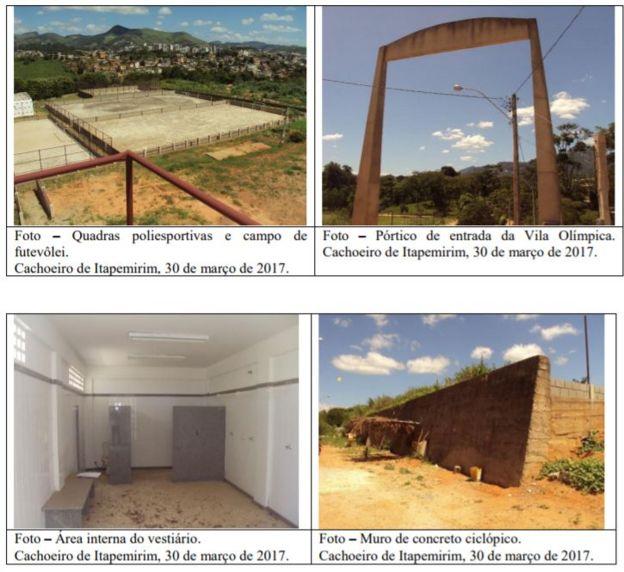 Reprodução de fotos do relatório da CGU