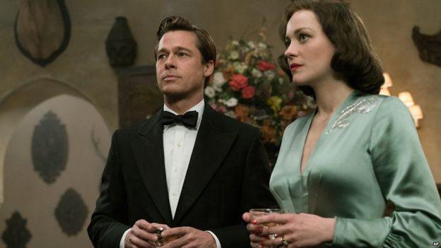 Brad Pitt na Marion katika filamu ya world war II