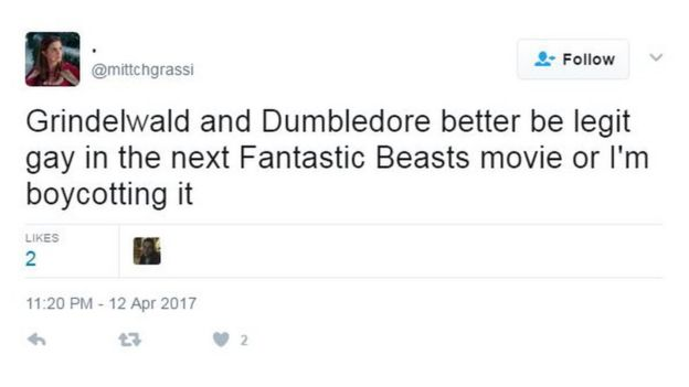 Grindelwald and Dumbledore better be legit gay in the next Fantastic Beasts movie or I'm boycotting it
