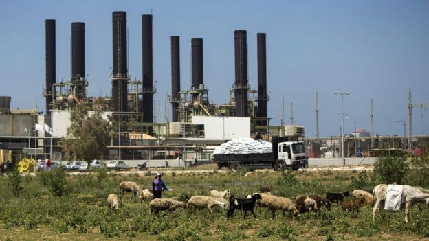 Gaza Power Plant (16 April 2017)