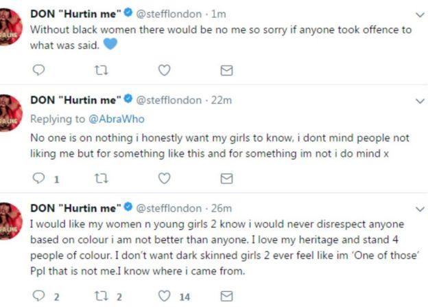 Stefflon Don responding to tweets
