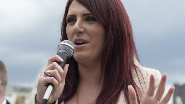 Deputy leader of Britain First Jayda Fransen