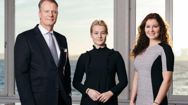Johan Andresen e as filhas