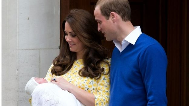 Duke and Duchess of Cambridge with Princess Charlotte