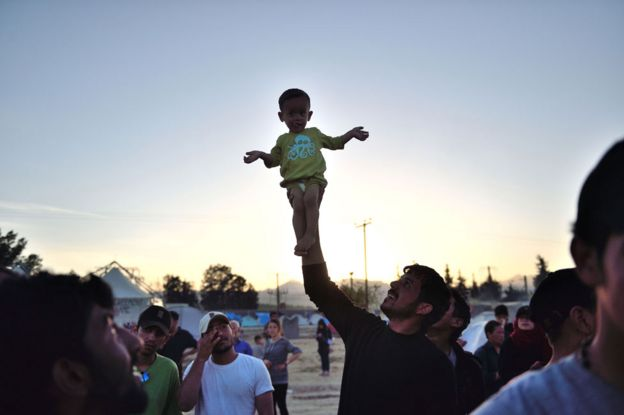 Thousands of migrants crossed from Greece into the Republic of Macedonia at a border crossing near Idomeni, north of Thessaloniki, in 2016