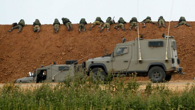 Israel strengthened its forces on the border with Gaza.