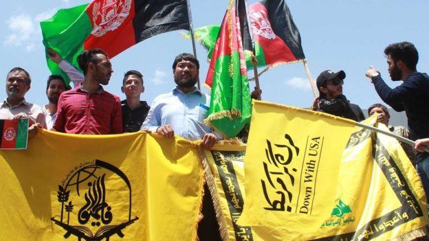 نیروهای فاطمیون در راهپیمایی روز قدس ایران