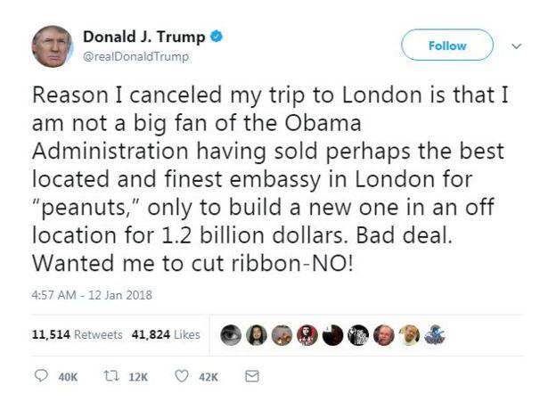 Trump'ın tweet mesajı