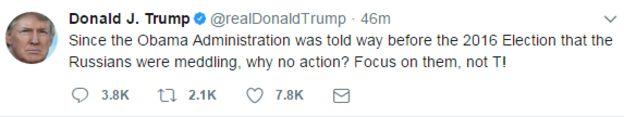 آقای ترامپ در واکنش اولیه به گزارش واشنگتن پست نوشت: