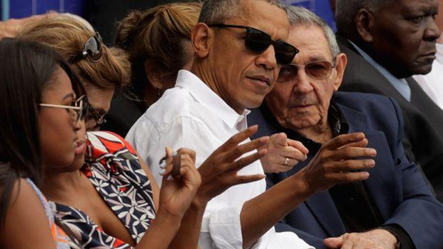 Obama và Chủ tịch Cuba Raul Castro tại Cuba năm 2016.