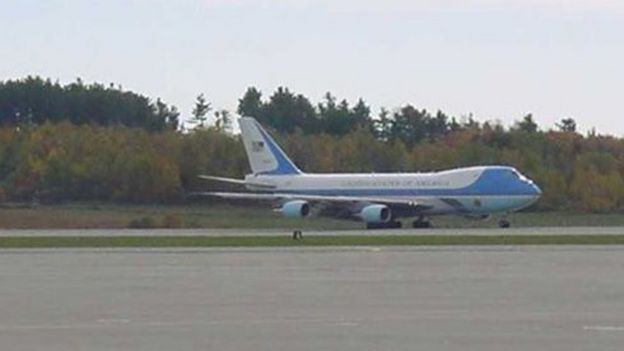 El Air Force One en Bangor