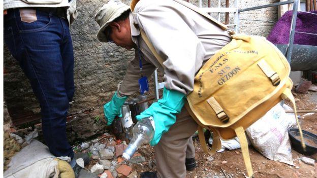 Inspeção contra foco de mosquito no Brasil