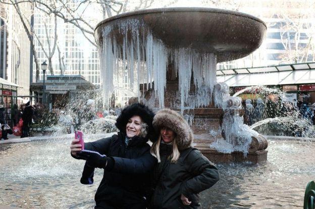 Turistas em Nova York