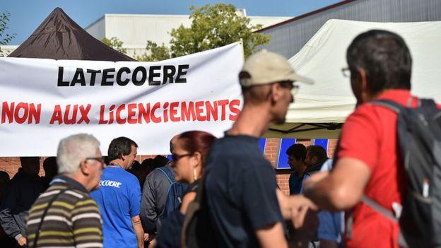 Protesta laboral en Francia
