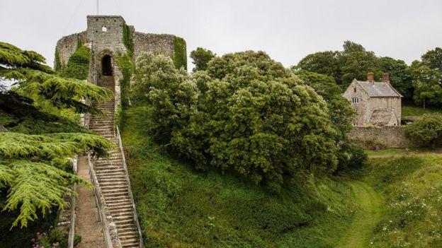 Замок Карисбрук на острове Уайт