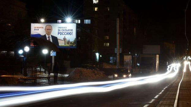 Letrero de Putin