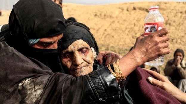 Iraqi woman displaced in Mosul, February 2017.