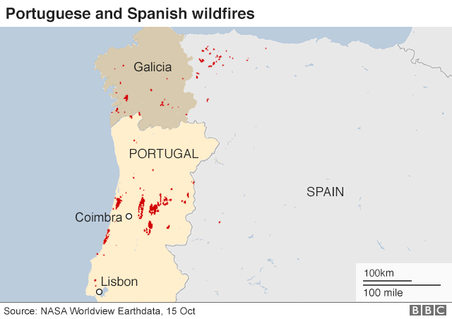 Portugal Fires Three Days Of National Mourning For Wildfire - Portugal rainfall map