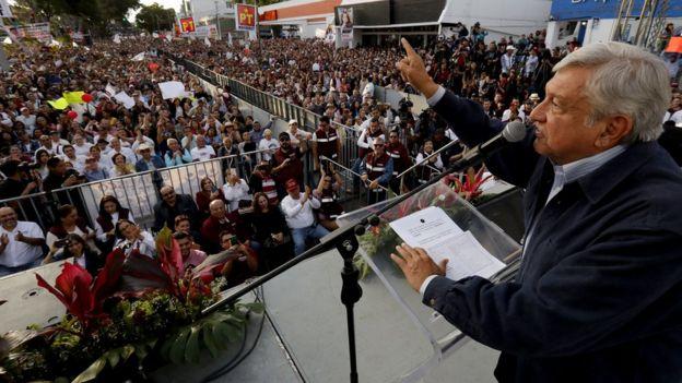 Andrés Manuel López Obrador, candidato presidencial mexicano.